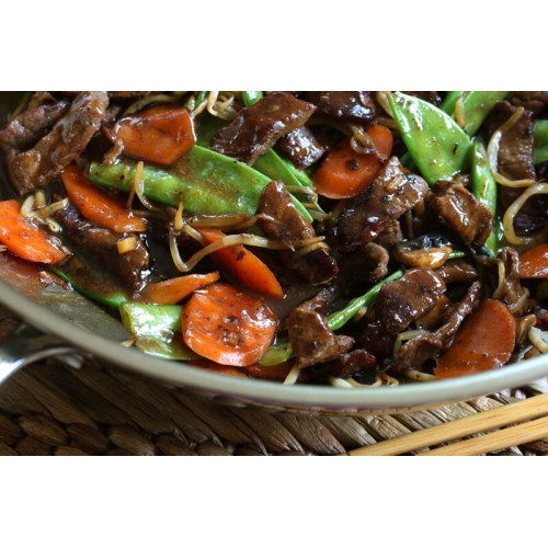 Beef with Chinese Mushroom & Beansprouts