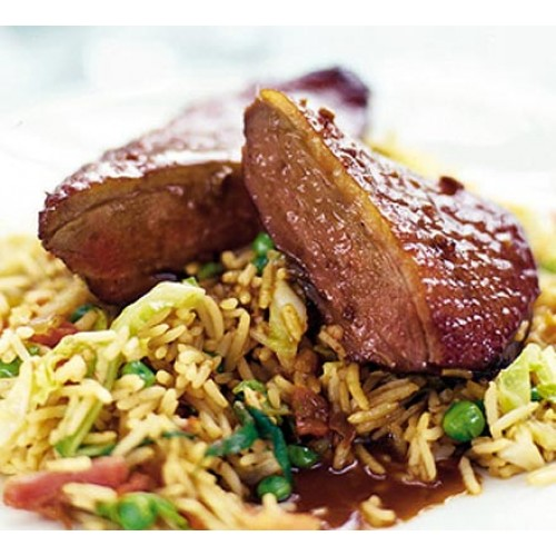 Roast Duck & Pork with Chinese Leaves & Boiled Rice