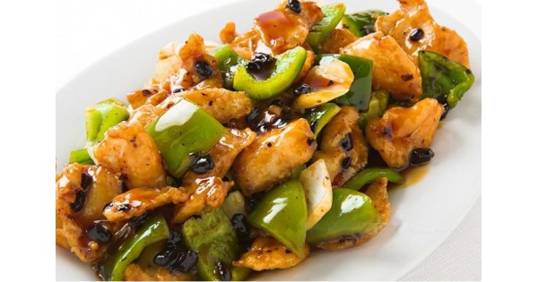 Chicken With Green Peppers Amp Black Bean Sauce Fried Rice