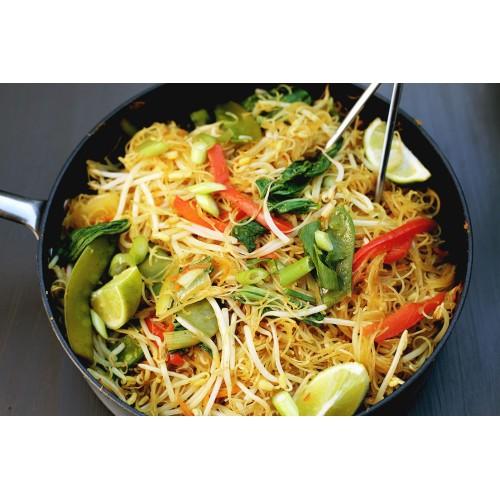Vegetarian Singapore Rice Noodles