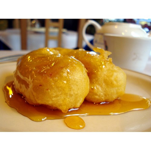 Banana Fritter in Syrup