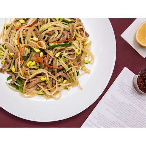 Roast Duck with Beansprouts Chinese Style