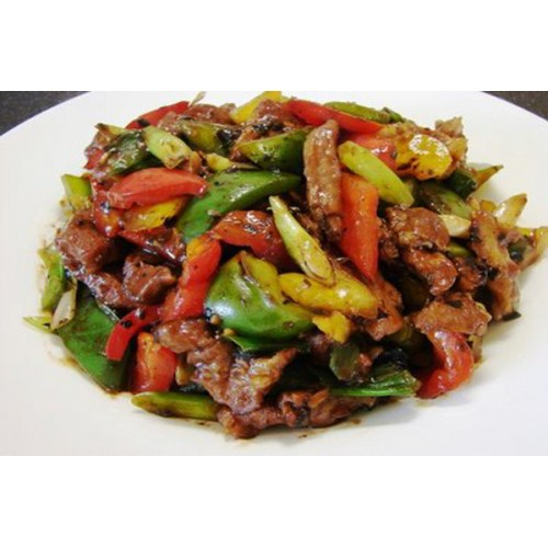 Roast Duck with Green Pepper in Black Bean Sauce