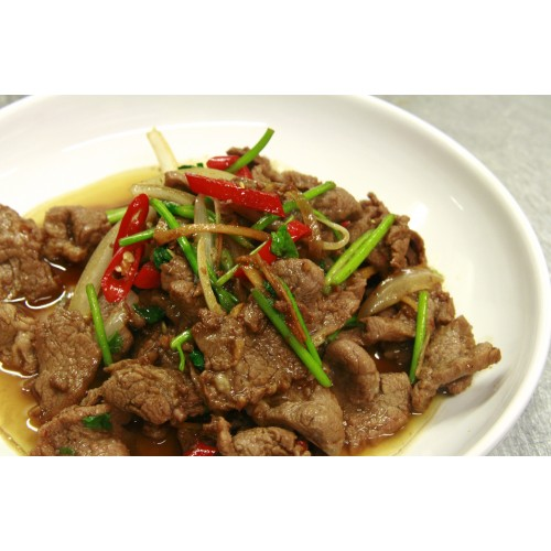 Lamb with Ginger & Spring Onions