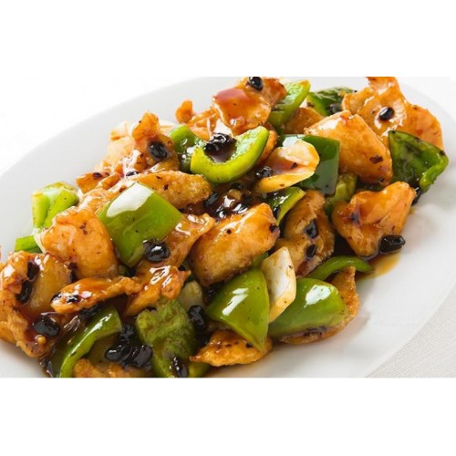 King Prawn with Cashew Nuts in Yellow Bean Sauce