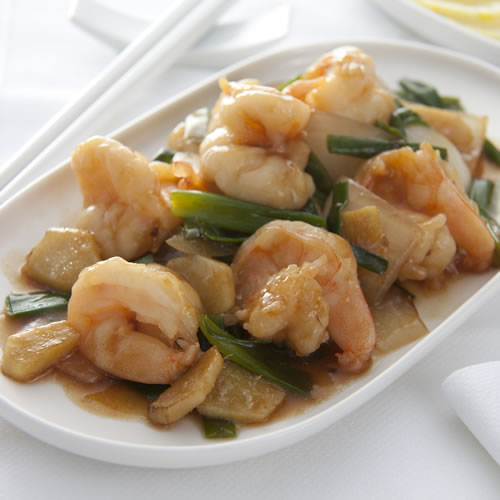 King Prawn with Ginger & Spring Onions