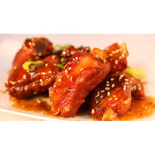 Barbecued Spare Ribs with Sweet & Sour Sauce