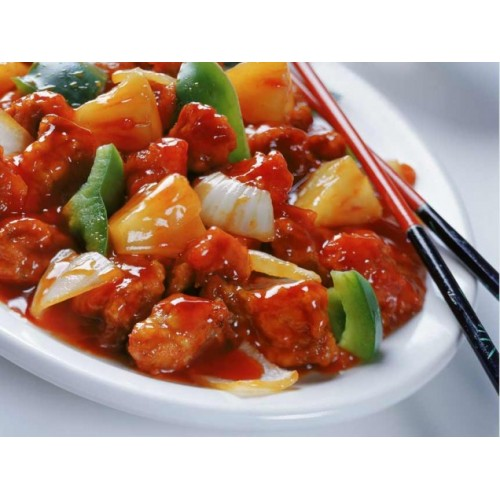 Sweet & Sour Chicken (Slices) (with sauce)