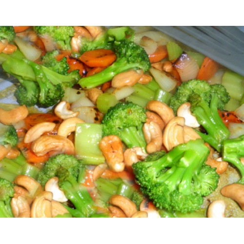Fried Mixed Vegetables & Cashew nuts in Chilli Bean Sauce